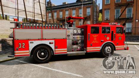 Fire Truck v1.4A LSFD [ELS] para GTA 4 left