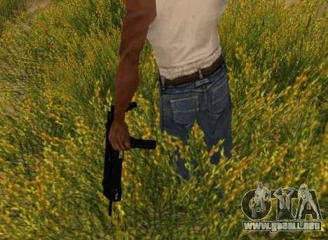 MP7 para GTA San Andreas quinta pantalla