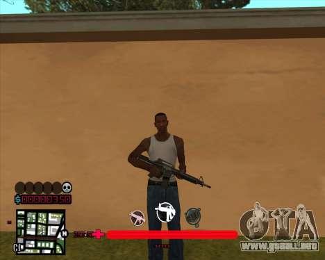 C-HUD sería Mario_Nostra para GTA San Andreas