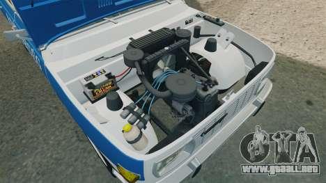 Wartburg 353w Deluxe Hungarian Police para GTA 4 vista hacia atrás