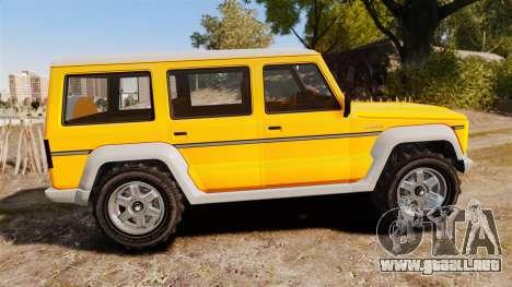 GTA V Benefactor Dubsta new wheels para GTA 4 left