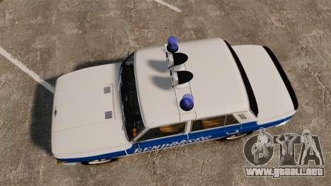 Wartburg 353w Deluxe Hungarian Police para GTA 4 visión correcta