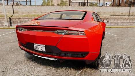 Lamborghini Estoque Concept 2008 para GTA 4 Vista posterior izquierda