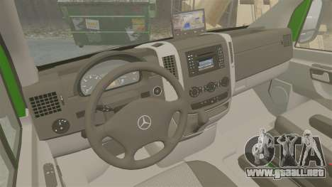 Mercedes-Benz Sprinter 2500 2011 Hungarian Post para GTA 4 vista interior