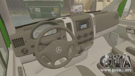 Mercedes-Benz Sprinter 2500 2011 Hungarian Post para GTA 4 vista interior