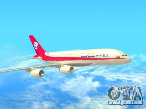 Airbus  A380-800 Sichuan Airlines para GTA San Andreas left