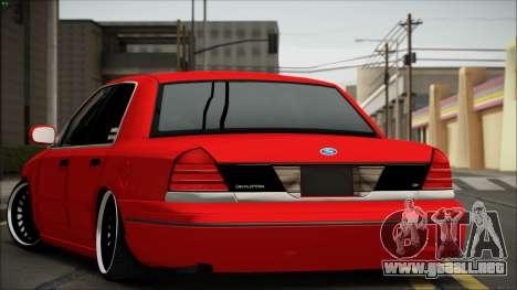 Ford Crown Victoria para GTA San Andreas vista posterior izquierda