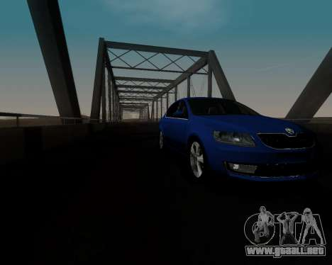 Skoda Octavia A7 para vista lateral GTA San Andreas