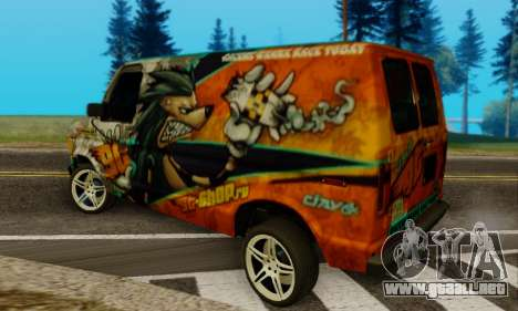 Ford E-150 GT-Shop para GTA San Andreas left