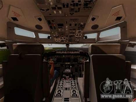 Boeing 737-800 Air Algerie para vista inferior GTA San Andreas