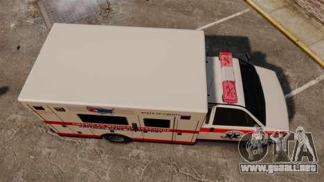 Brute Ambulance v2.1-SH para GTA 4 visión correcta