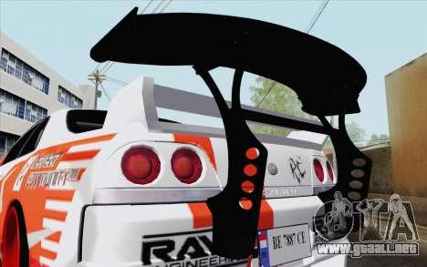 Nissan Skyline GT-R32 para la visión correcta GTA San Andreas