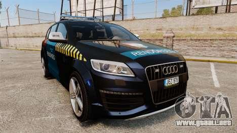 Audi Q7 Hungarian Police [ELS] para GTA 4