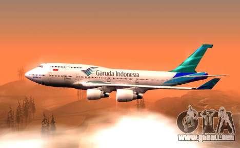 Boeing 747-400 Garuda Indonesia para GTA San Andreas left