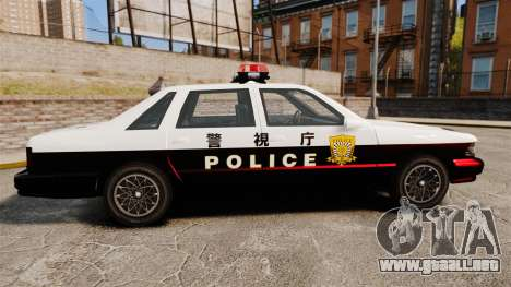 GTA SA Japanese Police Cruiser [ELS] para GTA 4 left