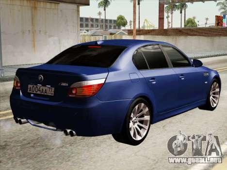 BMW M5 E60 2010 para la visión correcta GTA San Andreas