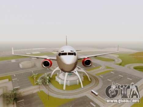 Boeing 737-800 Air Algerie para vista lateral GTA San Andreas