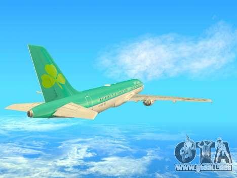 Airbus A320-200 Aer Lingus para visión interna GTA San Andreas