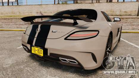 Mercedes-Benz SLS 2014 AMG NFS Stripes para GTA 4 Vista posterior izquierda