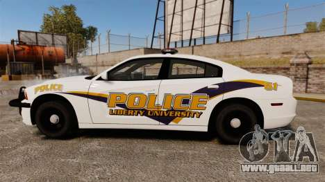 Dodge Charger 2013 Liberty University Police ELS para GTA 4 left