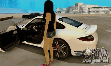 Jack Daniels Girl Skin para GTA San Andreas sucesivamente de pantalla