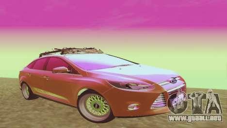 El Ford Focus Sedán Hellaflush para GTA San Andreas
