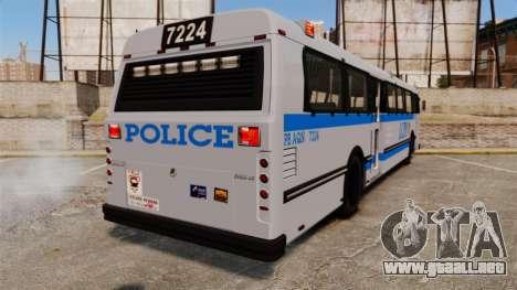 Brute Bus LCPD [ELS] para GTA 4 Vista posterior izquierda