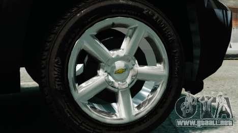 Chevrolet Suburban 2008 FBI [ELS] para GTA 4 visión correcta