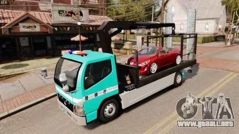 Mitsubishi Fuso Canter Japanese Auto Rescue para GTA 4 vista interior