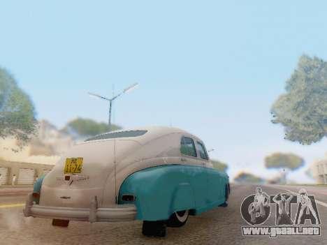GAZ M-20 Pobeda para GTA San Andreas vista hacia atrás