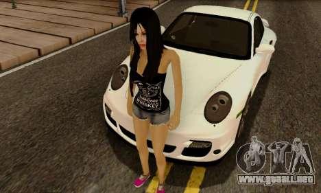 Jack Daniels Girl Skin para GTA San Andreas segunda pantalla