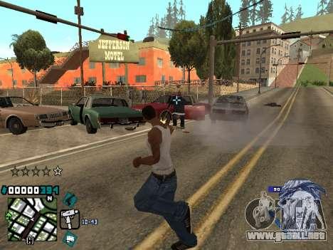 C-HUD Rifa in Ghetto para GTA San Andreas tercera pantalla