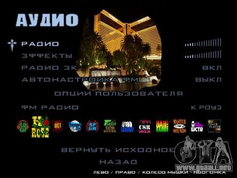 HQ Menu San Andreas para GTA San Andreas séptima pantalla