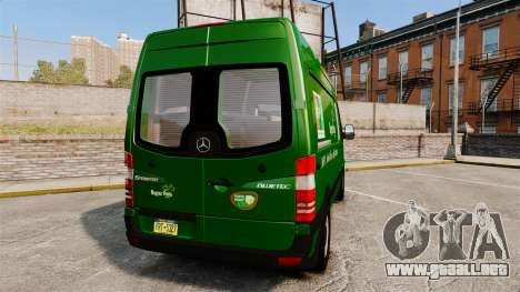 Mercedes-Benz Sprinter 2500 2011 Hungarian Post para GTA 4 Vista posterior izquierda