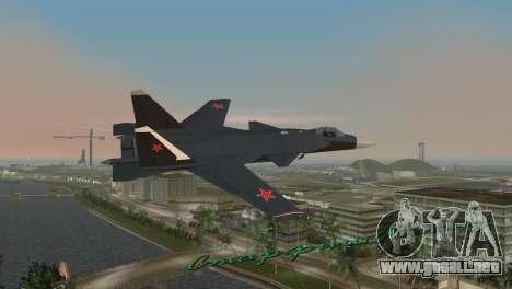 Su-47 Berkut para GTA Vice City vista lateral izquierdo