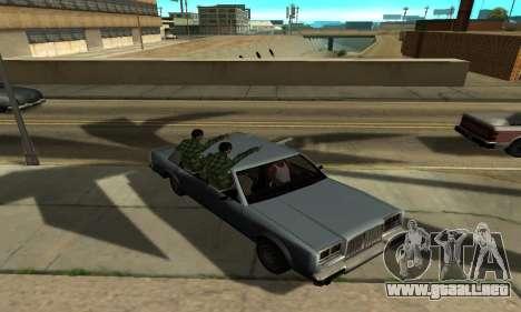 Sombras en el estilo de RAGE para GTA San Andreas octavo de pantalla