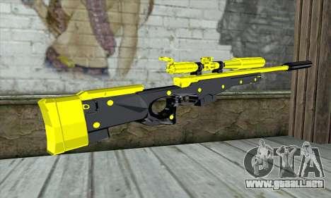 Yellow Sniper Rifle para GTA San Andreas segunda pantalla
