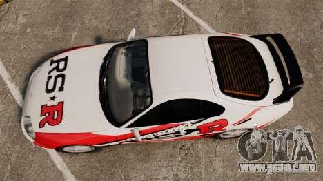 Toyota Supra MKIV 1995 RS-R para GTA 4 visión correcta