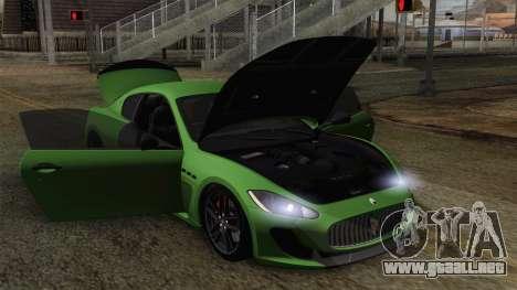 Maserati GranTurismo MC Stradale para las ruedas de GTA San Andreas
