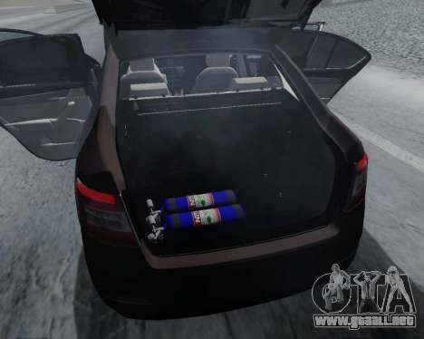 Skoda Octavia A7 para visión interna GTA San Andreas