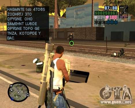 C-HUD Vice Sity para GTA San Andreas tercera pantalla