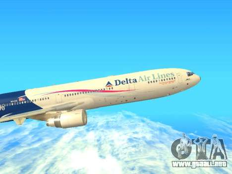McDonnell Douglas MD-11 Delta Airlines para GTA San Andreas left