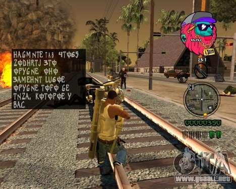 C-HUD Lion para GTA San Andreas sucesivamente de pantalla