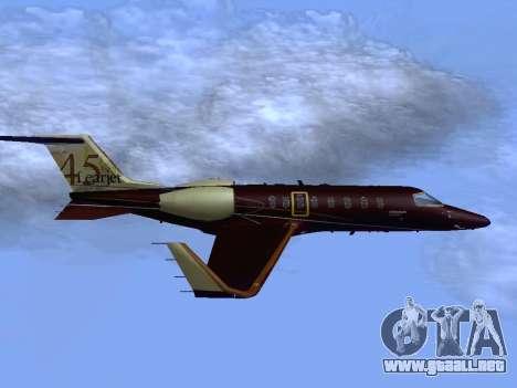 Bombardier Learjet 45 para la visión correcta GTA San Andreas