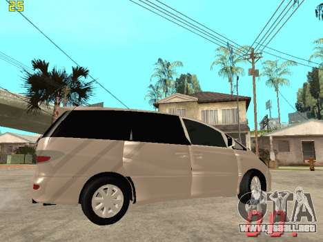 Toyota Estima KZ Edition 4wd para visión interna GTA San Andreas