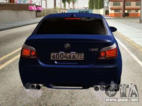 BMW M5 E60 2010 para visión interna GTA San Andreas