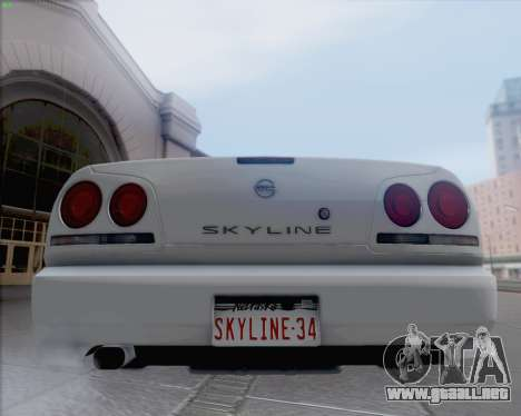 Nissan Skyline ER34 para GTA San Andreas vista posterior izquierda