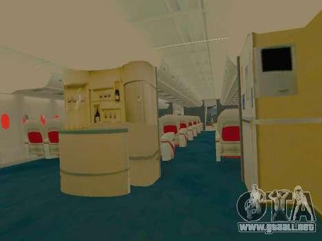 Airbus  A380-800 Sichuan Airlines para GTA San Andreas interior