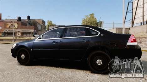 Chevrolet Impala 2010 LS Unmarked K9 Unit [ELS] para GTA 4 left