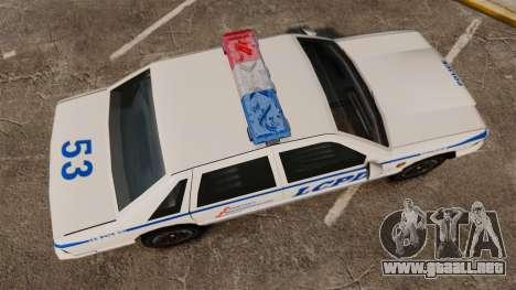 GTA SA Police Cruiser LCPD [ELS] para GTA 4 visión correcta